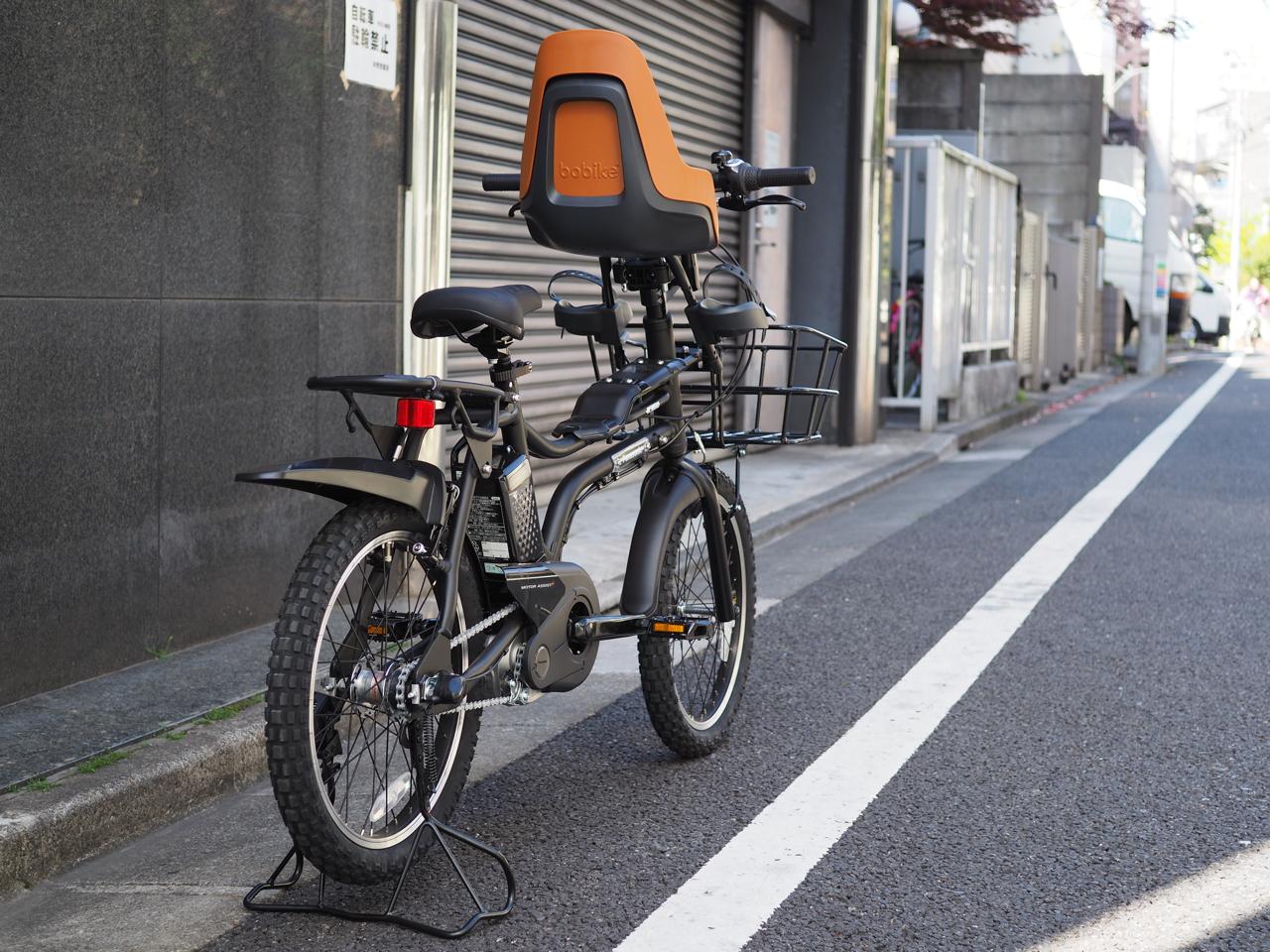 自転車,電動自転車,パナソニック,イーゼット,panasonic,EZ,チャイルドシート,OGK,マットブラック,bobike,ボバイク