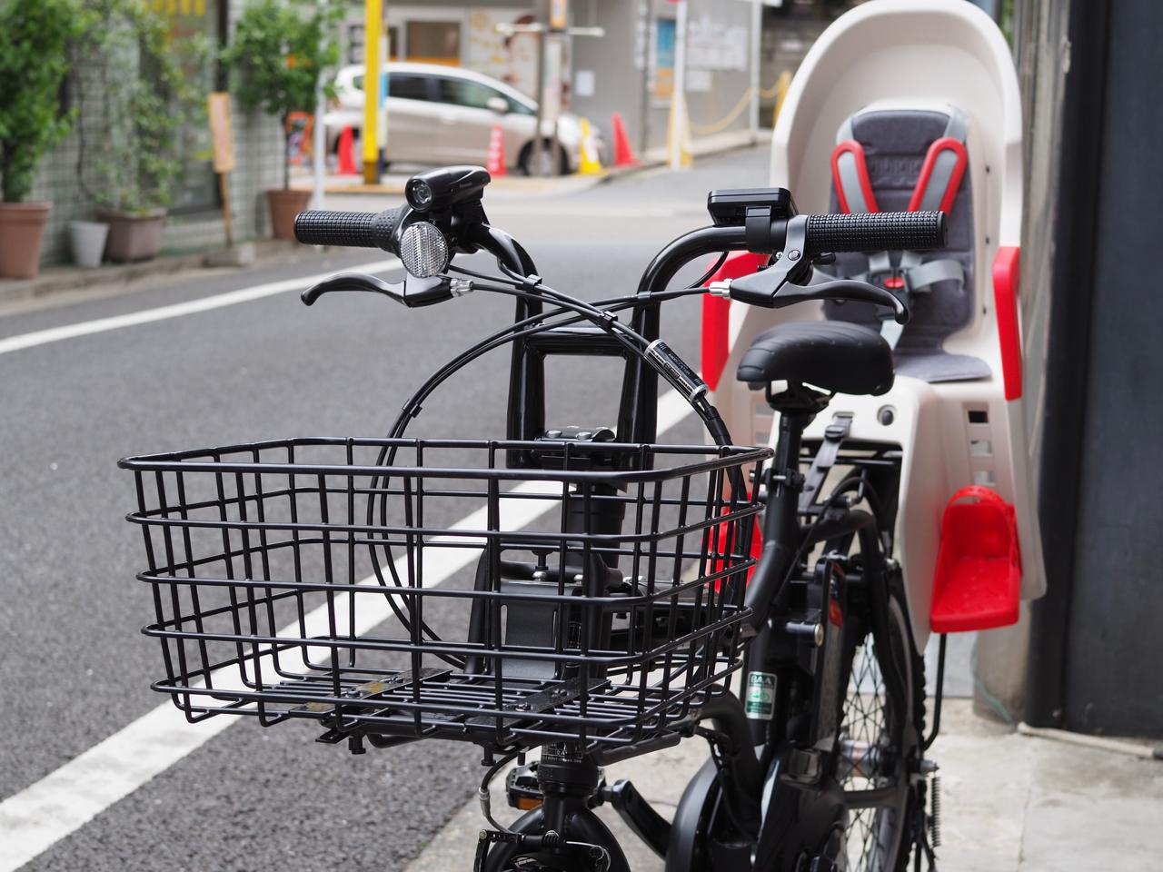 自転車,電動自転車,パナソニック,イーゼット,panasonic,EZ,チャイルドシート,OGK,マットブラック,polisport,ポリスポート